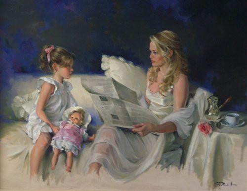 Maman et sa fillette