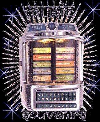Juke-box avec des musiques souvenirs