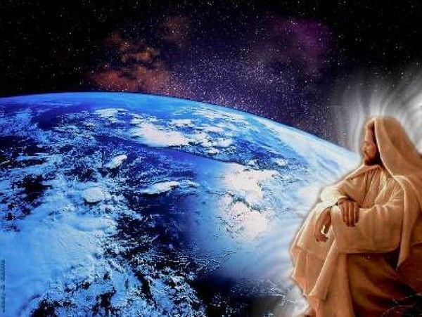 Jésus regardant la terre