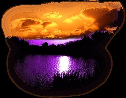 Lac au soleil couchant